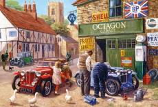Octagon Garage (GIB030891), a 500 piece Gibsons jigsaw puzzle.