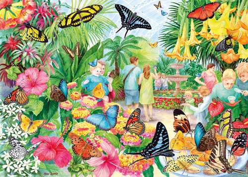 Butterfly House (GIB062311), a 1000 piece jigsaw puzzle by Gibsons. Click to view larger image.