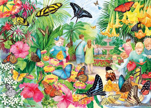 Butterfly House (GIB062311), a 1000 piece jigsaw puzzle by Gibsons.