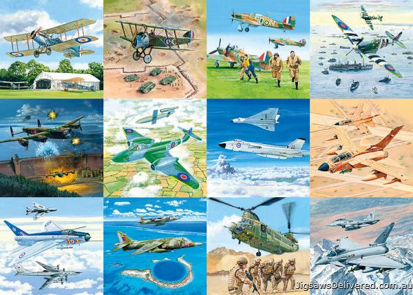 Tribute to our Finest (GIB062427), a 1000 piece jigsaw puzzle by Gibsons.