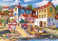 The Four Bells Harbour (GIB062472), a 1000 piece jigsaw puzzle by GibsonsArtist Derek Roberts. Click to view this jigsaw puzzle.