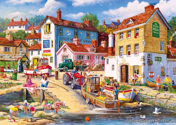 The Four Bells Harbour (GIB062472), a 1000 piece jigsaw puzzle by Gibsons.