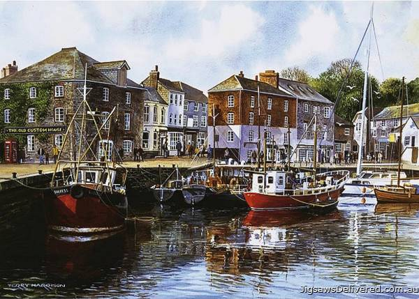 Padstow Harbour, UK (GIB004762), a 1000 piece jigsaw puzzle by Gibsons.