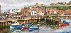Whitby Harbour, UK (GIB003741), a 636 piece Gibsons jigsaw puzzle.