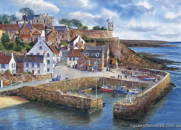 Crail Harbour, Scotland (GIB007985), a 1000 piece jigsaw puzzle by Gibsons.