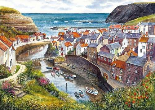 Staithes, North Yorkshire UK (GIB007138), a 1000 piece jigsaw puzzle by Gibsons. Click to view larger image.