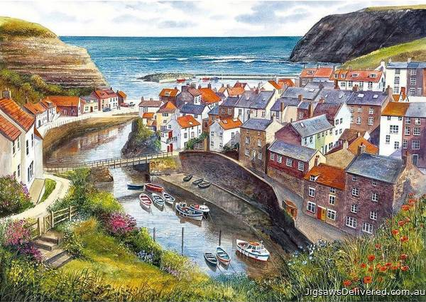 Staithes, North Yorkshire UK (GIB007138), a 1000 piece jigsaw puzzle by Gibsons.