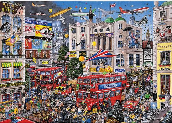 I Love London (GIB005790), a 1000 piece jigsaw puzzle by Gibsons.