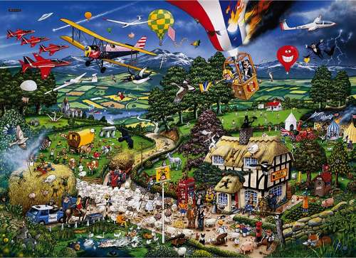 I Love The Country (GIB005769), a 1000 piece jigsaw puzzle by Gibsons. Click to view larger image.