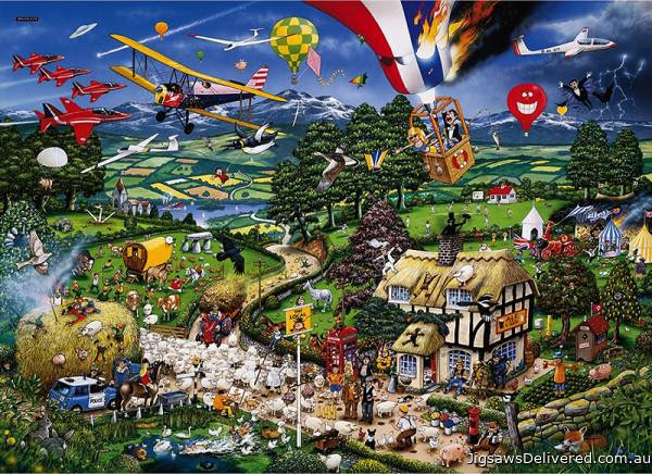 I Love The Country (GIB005769), a 1000 piece jigsaw puzzle by Gibsons.