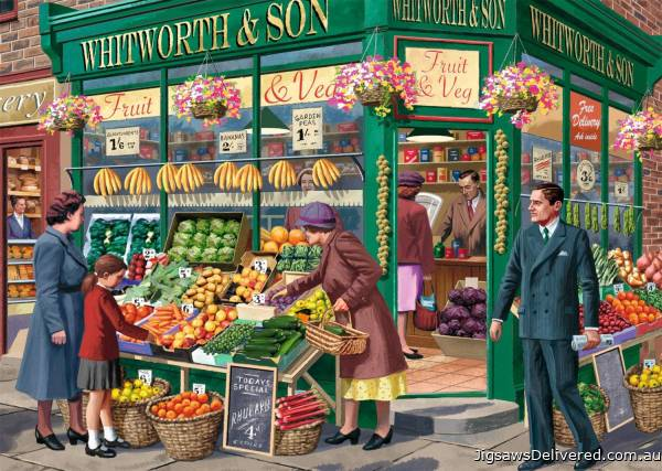 The Greengrocer (JUM11232), a 1000 piece jigsaw puzzle by Jumbo.
