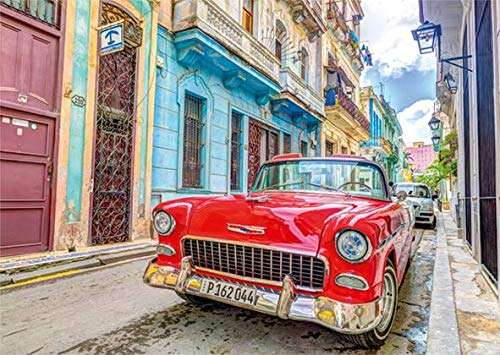 Havana, Cuba (JUM18803), a 500 piece jigsaw puzzle by Jumbo. Click to view larger image.