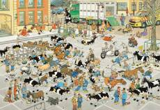 The Cattle Market (2000pc) (JUM19078), a 2000 piece Jumbo jigsaw puzzle.