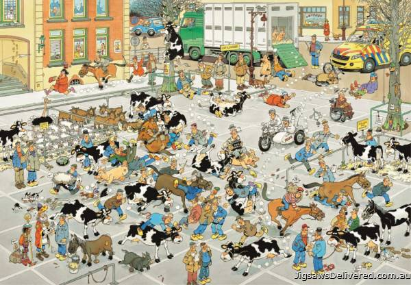 The Cattle Market (2000pc) (JUM19078), a 2000 piece jigsaw puzzle by Jumbo.