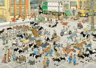 The Cattle Market (1000pc) (JUM19075), a 1000 piece Jumbo jigsaw puzzle.