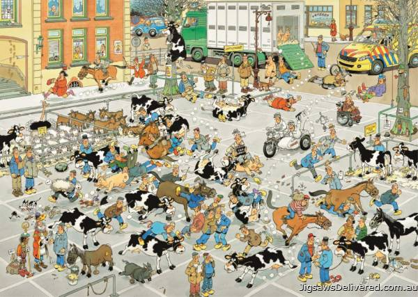 The Cattle Market (1000pc) (JUM19075), a 1000 piece jigsaw puzzle by Jumbo.