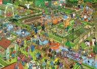The Vegetable Garden (JUM19057), a 1000 piece Jumbo jigsaw puzzle.