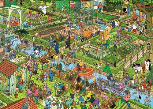 The Vegetable Garden (JUM19057), a 1000 piece jigsaw puzzle by Jumbo. Click to view larger image.