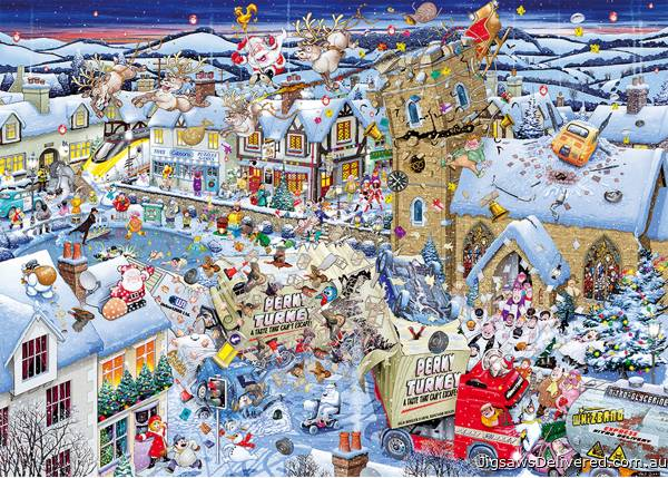I Love Christmas (GIB070132), a 1000 piece jigsaw puzzle by Gibsons.