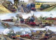 Memories of Steam (GIB493), a 1000 piece Gibsons jigsaw puzzle.