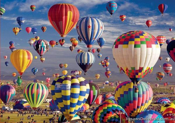 Hot Air Balloons (EDU17977), a 1500 piece jigsaw puzzle by Educa.