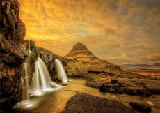 Kirkjufellsfoss Waterfall, Iceland (EDU17971), a 1000 piece Educa jigsaw puzzle.