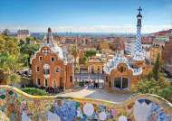 View from Park Guell, Barcelona Spain (EDU17966), a 1000 piece jigsaw puzzle by Educa. Click to view this jigsaw puzzle.