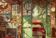 Old Garage (EDU18005), a 1500 piece jigsaw puzzle by EducaArtist Arly Jones. Click to view this jigsaw puzzle.