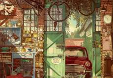 Old Garage (EDU18005), a 1500 piece Educa jigsaw puzzle.