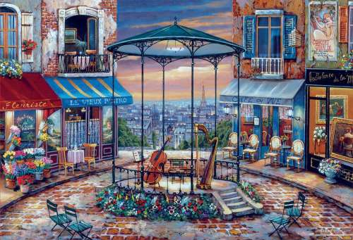 Evening Prelude, Paris (EDU18016), a 6000 piece jigsaw puzzle by Educa. Click to view larger image.