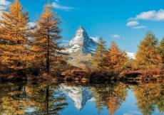 The Matterhorn in Autumn (EDU17973), a 1000 piece Educa jigsaw puzzle.