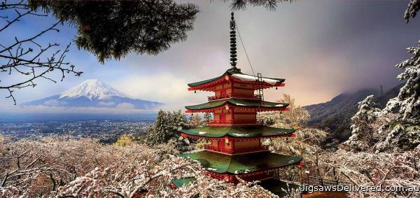 Mount Fuji and Chureito Pagoda, Japan (EDU18013), a 3000 piece jigsaw puzzle by Educa.