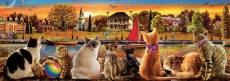 Cats on the Quay Panorama (EDU18001), a 1000 piece Educa jigsaw puzzle.