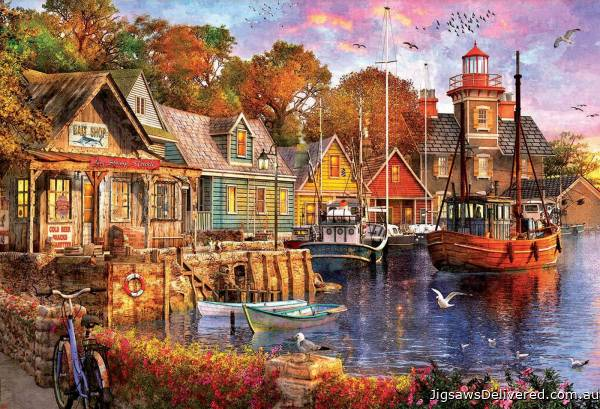 The Harbour Evening (EDU18015), a 5000 piece jigsaw puzzle by Educa.