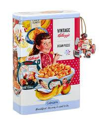 Vintage Kellogg's Cornflakes (GIB028133), a 250 piece jigsaw puzzle by Gibsons.