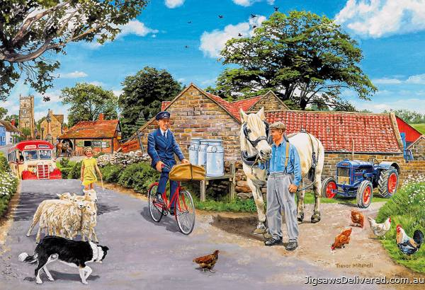 Olive House Farm (Large Pieces) (GIB022186), a 100 piece jigsaw puzzle by Gibsons.