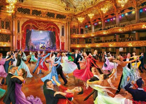 Keep on Dancing (GIB062090), a 1000 piece jigsaw puzzle by Gibsons. Click to view larger image.