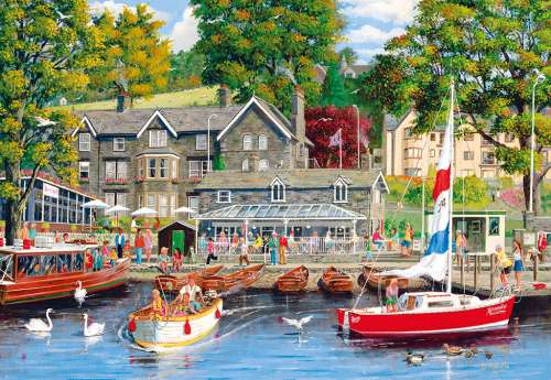 Summer in Ambleside (GIB062083), a 1000 piece jigsaw puzzle by Gibsons. Click to view larger image.