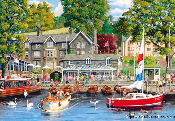 Summer in Ambleside (GIB062083), a 1000 piece jigsaw puzzle by Gibsons.