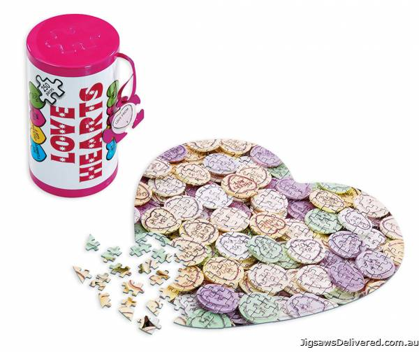 Love Hearts (Tin Box) (GIB028102), a 250 piece jigsaw puzzle by Gibsons.