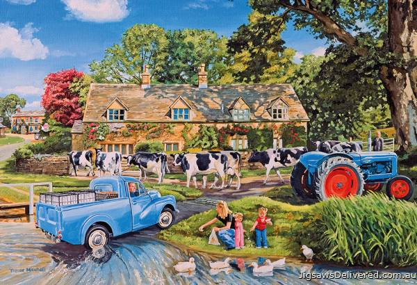 Milk on the Move (GIB027150), a 250 piece jigsaw puzzle by Gibsons.