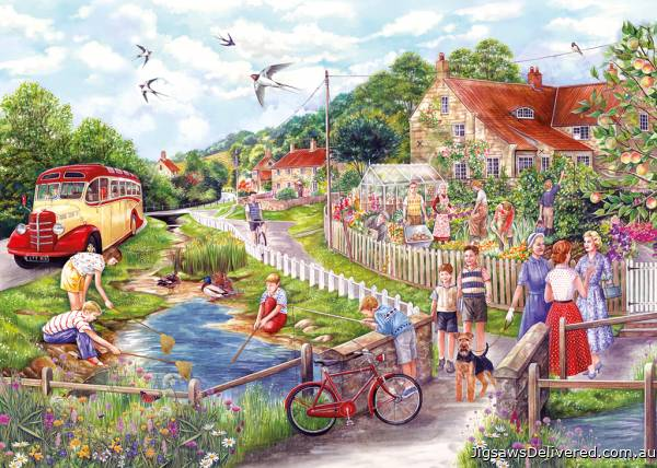 Summer by the Stream (GIB027112), a 250 piece jigsaw puzzle by Gibsons.