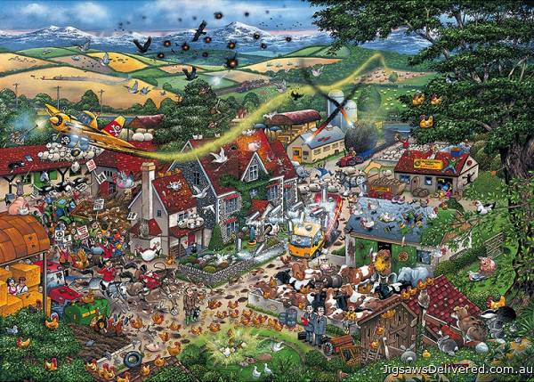 I Love the Farmyard (GIB007947), a 1000 piece jigsaw puzzle by Gibsons.