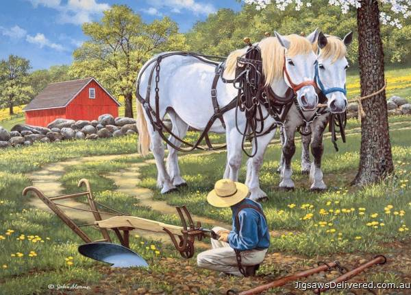 To The Fields (Large Pieces) (HOL771493), a 500 piece jigsaw puzzle by Holdson.