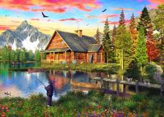 The Fishing Cabin (Sunsets) (HOL771455), a 1000 piece Holdson jigsaw puzzle.