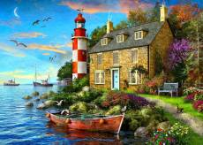 The Cottage Lighthouse (Sunsets) (HOL771448), a 1000 piece Holdson jigsaw puzzle.