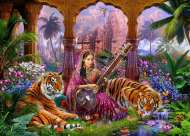 Indian Harmony (Mistress of the Pridelands) (HOL771295), a 1000 piece Holdson jigsaw puzzle.