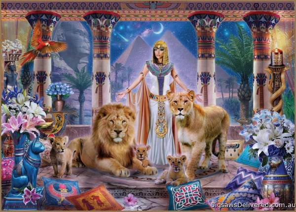 Egyptian Princess (Mistress of the Pridelands) (HOL771288), a 1000 piece jigsaw puzzle by Holdson.