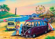 Purple Kombi at the Fair (BL02032), a 1000 piece jigsaw puzzle by Blue OpalArtist Jenny Sanders. Click to view this jigsaw puzzle.