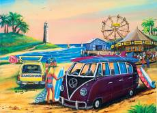 Purple Kombi at the Fair (BL02032), a 1000 piece Blue Opal jigsaw puzzle.
